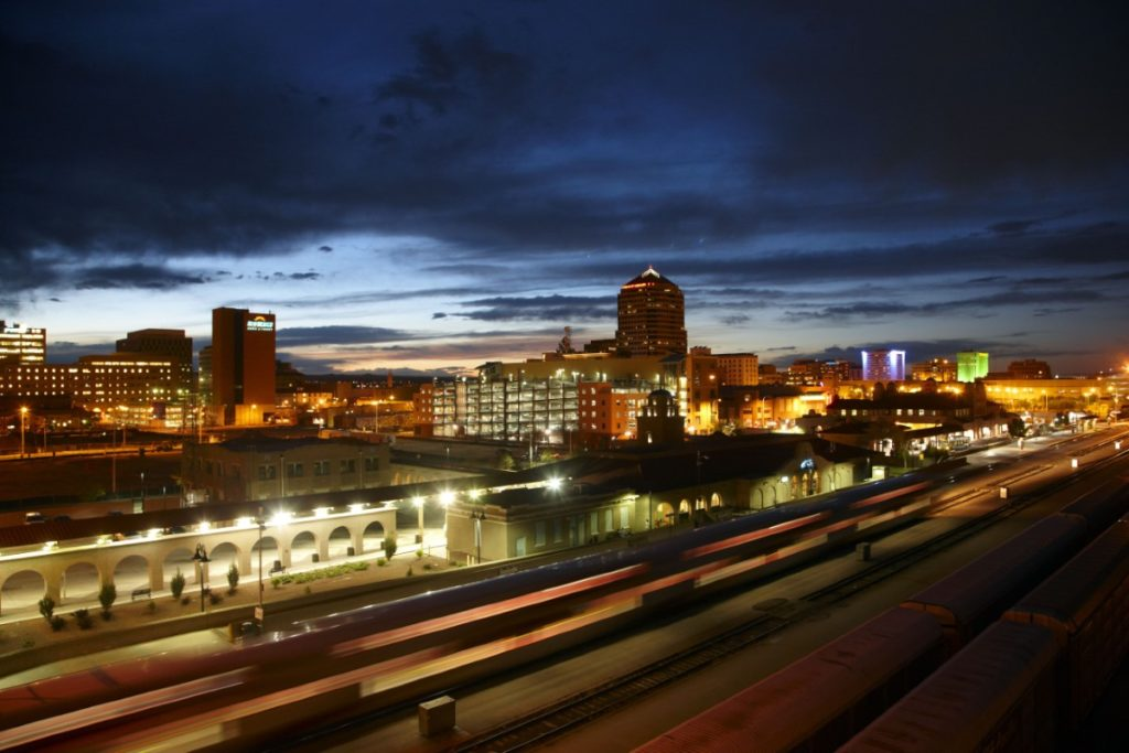Downtown Albuquerque at night