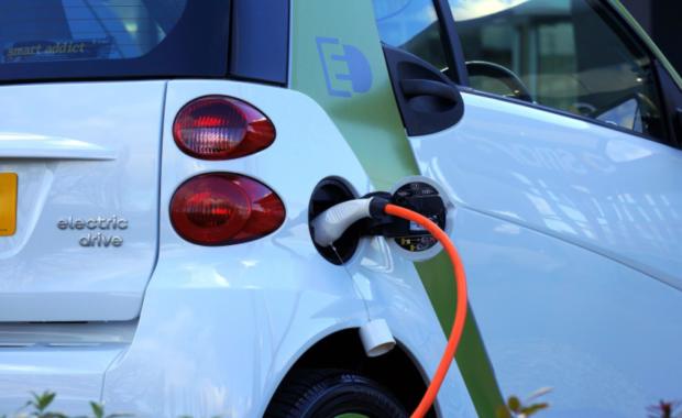 An electric car, also known as a green car